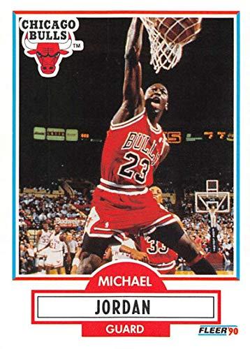 1990-91 Fleer Basketball #26 Michael Jordan Chicago Bulls Official NBA Trading Card ()