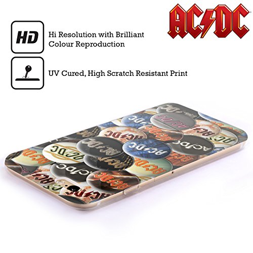 Officiel AC/DC ACDC Multicolore Épingles De Bouton Étui Coque en Gel molle pour Apple iPhone 5 / 5s / SE
