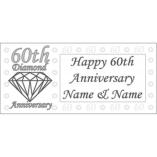 60TH ANNIVERSARY SCRIPT BANNER by Partypro