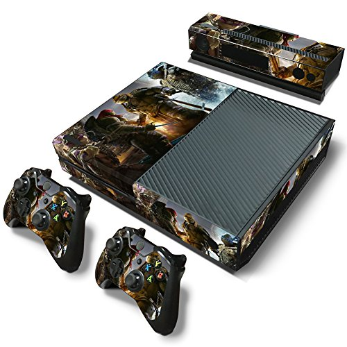 Ambur® Full Protective Xbox One Skin with 2PCS Protective Vinyl Skin Decals Cover for Microsoft Xbox One Controllers ( ninja turtles Collection)