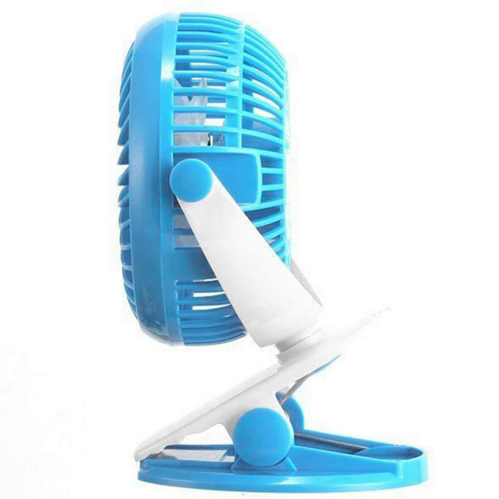 Bleu CUTICATE Ventilateur USB /à Pince /à Pile pour Poussette Blanc