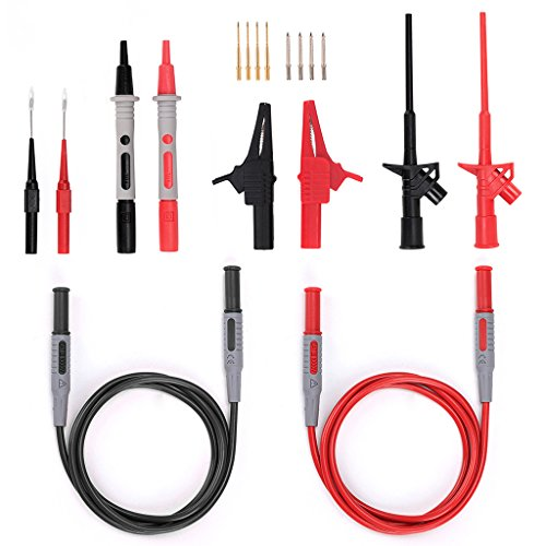 Test Probe Set - Sumnacon Multi Test Leads Kit, 18-in-1 Electrical Multimeter Test Lead With Alligator Clips, Test Probe, Spring Grabber,Test Extension Lead - Professional Volt Meter Leads For Voltage Circuit Tester