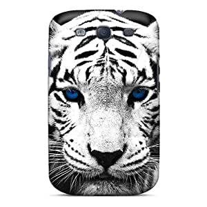 New Cute Funny Blue Eyed Tiger Case Cover/ Galaxy S3 Case Cover