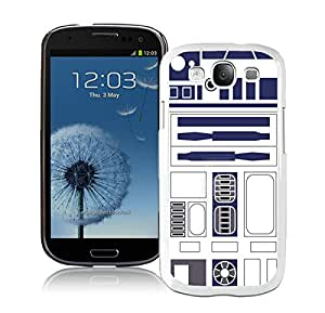 Beautiful Designed Cover Case For Samsung Galaxy S3 I9300 With R2D2 Minimalist White Phone Case