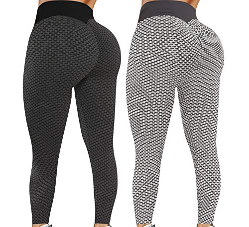 Leggings for Women Butt Lift - 2 Pack High Waist