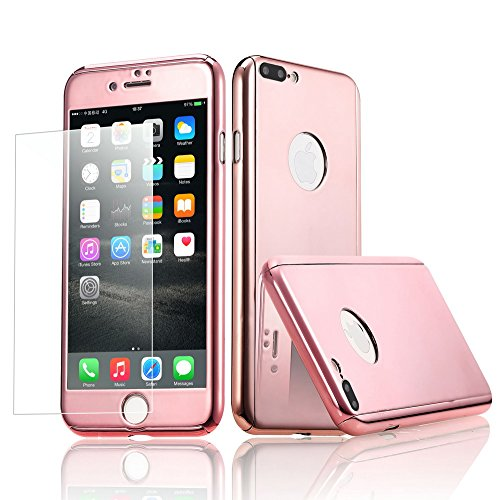 360 Degree Hard Plastic Case for iPhone 7 Plus (Silver) - 7