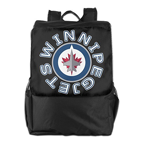 [Show Time Winnipeg Logo Jets Multipurpose Backpack Travel Bag Shoulder Bags] (Johnny Depp Wolf Costume)
