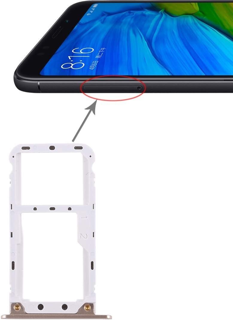HONGYUE Bandeja de Tarjeta SIM 2 / Bandeja de Tarjeta Micro SD for Xiaomi Redmi 5 Plus (Negro) (Color : Gold)