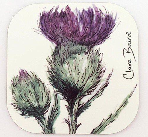 (Flower of Scotland Pair of Coasters in a Scottish Thistle Design)
