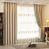 Simple Modern Solid Color Curtain Fabric Living Room Office Hotel Shading soundproof Thickening Chenille (Size : 2.5 * 2.7m)