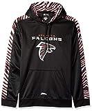 Zubaz NFL Atlanta Falcons Mens Pullover Hood, Black, Large