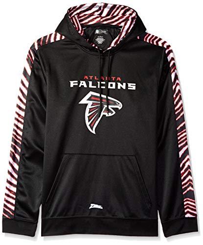 (Zubaz NFL Atlanta Falcons Mens Pullover Hood, Black,)
