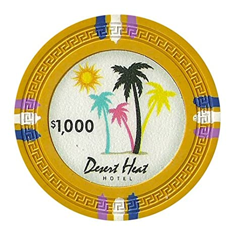 Claysmith Jeu Argile Composite 13.5Gram Desert Heat jetons de Poker-Pochette de 25 5 g Claysmith Gaming CPDH-$1*25
