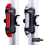 Outair USB Rechargeable Bicycle Light Front And Tail Set 5 LEDs 4 Modes