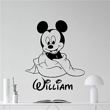 Adesivi Murali Per Bambini Disney.Adesivo Murale Bambini Disney Topolino Adesivo Con Nome