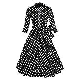 Laryana Retro 3/4 Sleeve 50s 60s Vintage Rockabilly Party Swing Dress Coat