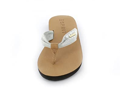 fc7ef21b8a86 Image Unavailable. Image not available for. Colour  ESPRIT WHOLESALE GMBH  Women s alice metallic Thong Sandals Silver ...