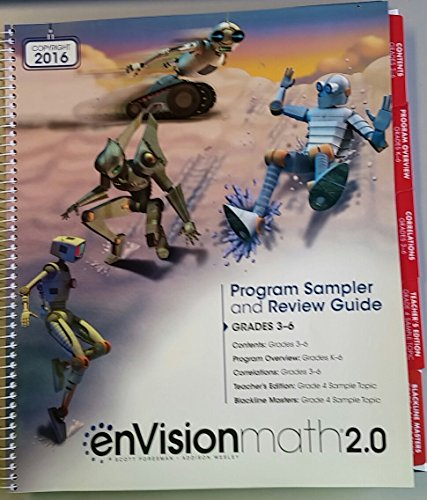 enVisionmath2.0 Program Sampler and Review Guide Grades 3-6