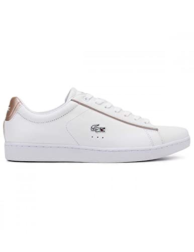 new style e3bb9 14ea4 Lacoste Damen Weiß/Light Rosa Carnaby EVO 217 2 SPW Sneakers ...