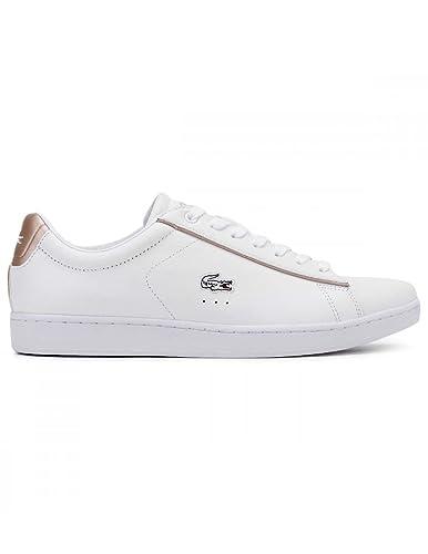 new style 3ffa9 294a4 Lacoste Damen Weiß/Light Rosa Carnaby EVO 217 2 SPW Sneakers ...