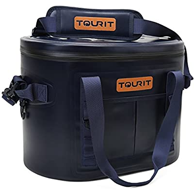 TOURIT 20 Cans Leak-proof Soft Pack Cooler Waterproof Insulated Soft Sided Coolers Bag with Cooler for Hiking, Camping, Sports, Picnics, Sea Fishing, Road Beach Trip