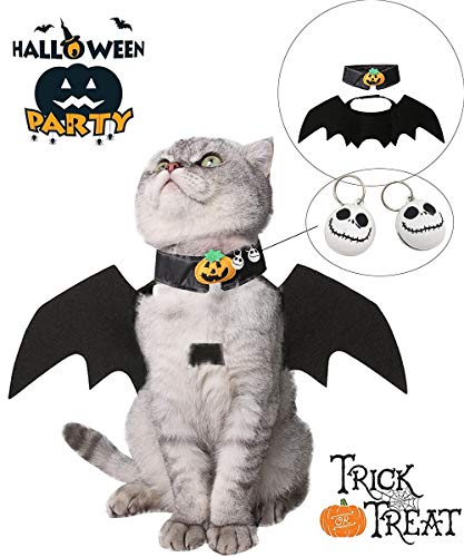 GW Bat Dog Costume Halloween Pet Bat Wings,Bat Wings Costumes for Cats and Dogs ()