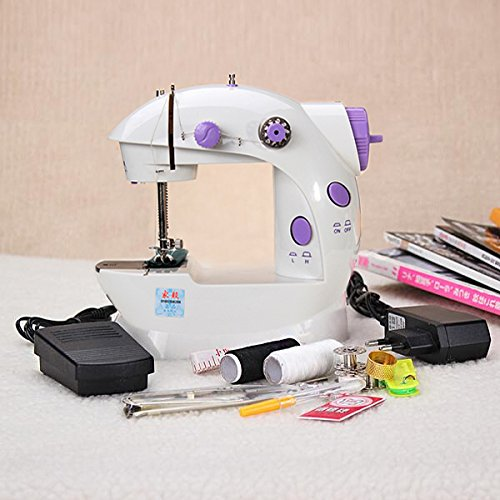 Amazon.com : Portable Home Handwork Electric Mini Sewing Machine With Led Light // Trabajo hecho a mano portátil de casa Mini eléctrico de la máquina de ...