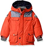 London Fog Baby Toddler Boys' Heavyweight Shirt Pocket Parka Coat, Orange, 3T