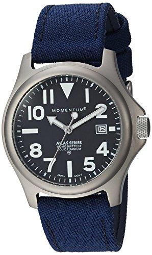 - Momentum Men's 1M-SP00B6U Atlas 38 Analog Display Quartz Blue Watch