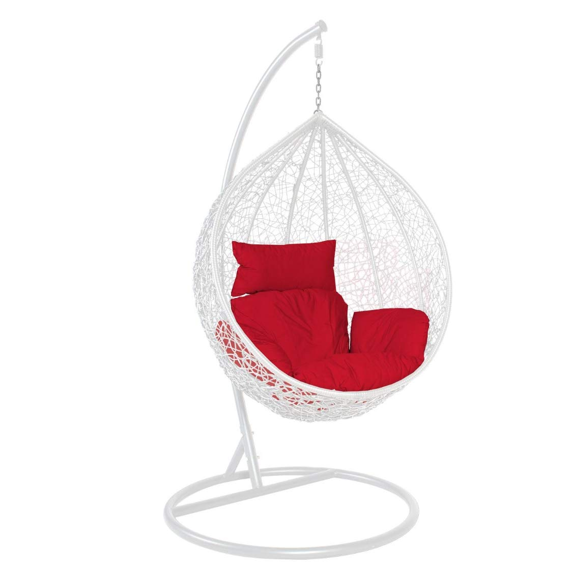 Hindoro Swing Chair with Stand and Red Cushion