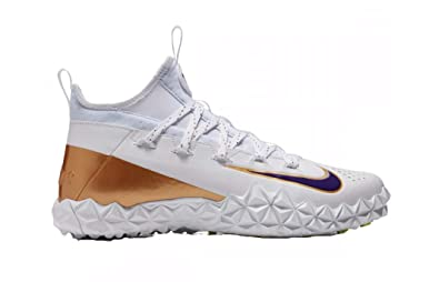 96e7e97270bcf Nike Alpha Huarache 6 LX Limited Edition White Court Purple Men s Lacrosse  Turf Shoes 12.5