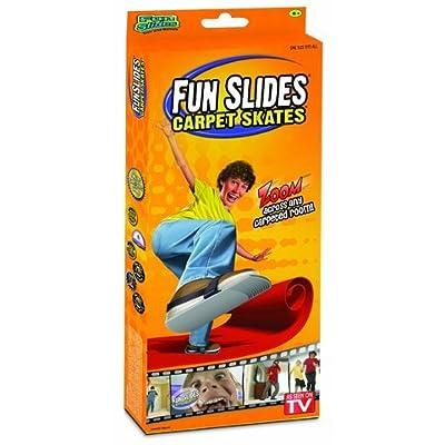 WE-R-KIDS Game / Play Simtec Fun Slides Carpet Skates - Silver. Toy, Slides, Glide, Plastic, Skid, Durable, Strap Toy / Child / Kid: Toys & Games