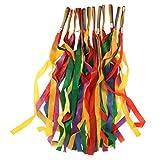 jinhe Rhythm Ribbon Dance Rainbow Ribbon Dance Ribbon 12PCS
