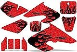 Honda XR50 2000-2003 MX Dirt Bike Graphic Kit Sticker Decals XR 50 DIAMOND FLAME RED