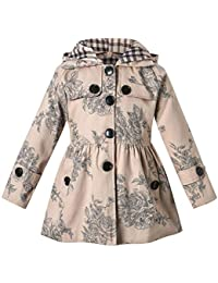 Girl's Hooded Trench Coat