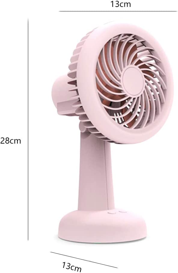 ornerx Rechargeable USB Desk Fan with LED Light 11