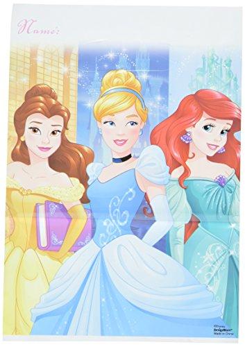 Disney Princess Dream Big Birthday Folded Loot Bag (Pack Of 8), Multicolor, 9