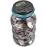 AOZBZ Contador Digital de Hucha per EUR, Automático Moneda Contando Caja de Dinero para Niños y Adultos, Banco de Dinero…