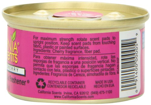 California Scents Spillproof Organic Air Freshener Twin-pack, Coronado Cherry, 1.5 Ounce Canister (Pack of 4) by California Scents (Image #2)