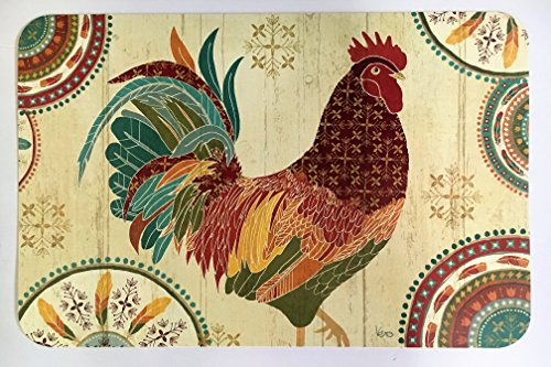 Barn Rooster Reversible Decofoam Placemats - Set of 4 (Rooster Table Mats)