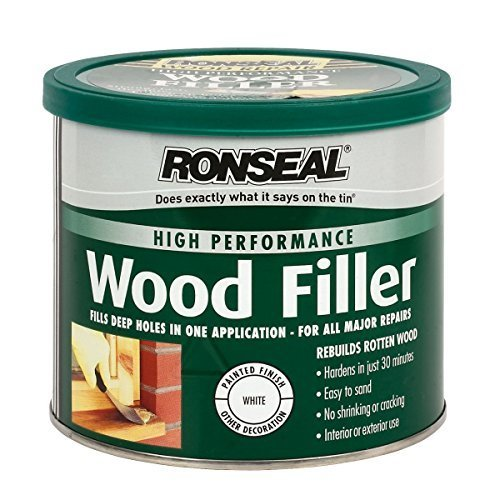 Ronseal High Performance Wood Filler White 550g by Ronseal