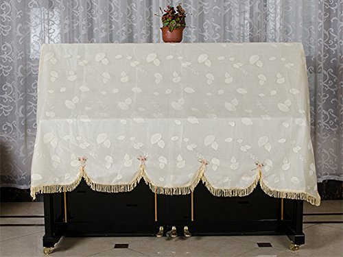JM Star Lace Romantic Upright Piano Dust Cover Double-layer Fabric Dustproof Cover Fit For The Size of Most Piano (Pattern-2) (Steinway Piano Upright)