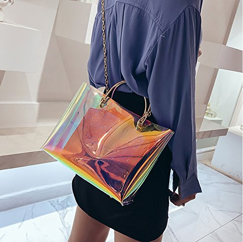 d2f45ee6e5 Laser Transparent Jelly Bag Tote Candy Colors Crossbody Bag PVC Translucent  Waterproof Shoulder Bags Lady Shopping Dating Handbag 2 Pieces HQ.