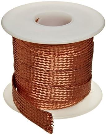 Flat Bare Copper Braid: Electronic Component Wire: Amazon.com ...