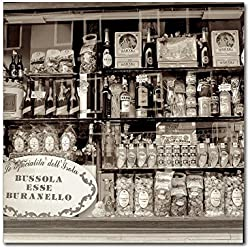 Brussola Esse Buranello by Alan Blaustein, 35x35-Inch Canvas Wall Art