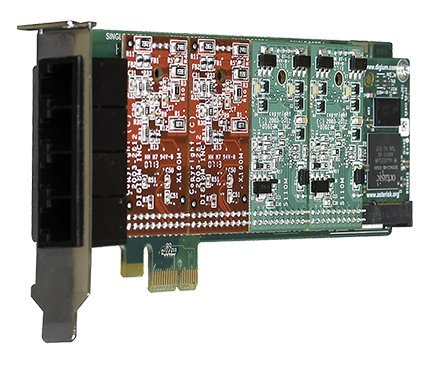 Digium 1A4B02F 4 Port 0-Fxs & 4-Fxo Pci-E - Pci Analog 4fxo Card