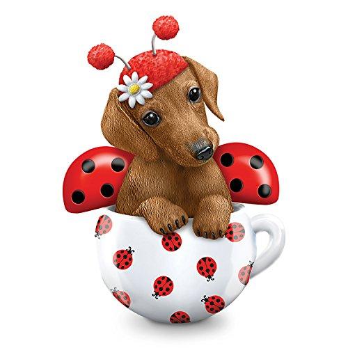 The Hamilton Collection Kayomi Harai Cute As A Bug Dachshund Ladybug Dog Figurine