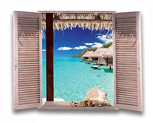 Removable Window Sticker Exotic Wallpaper product image
