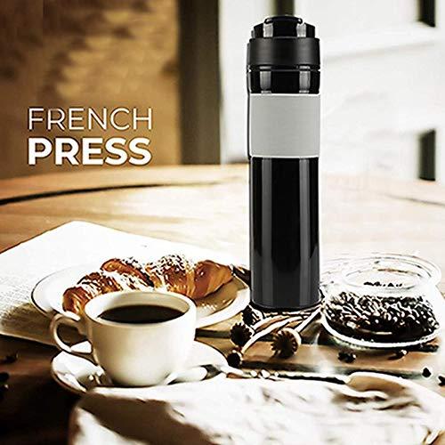 Volwco Cafetera de Prensa Francesa, cafetera de Viaje portátil de ...