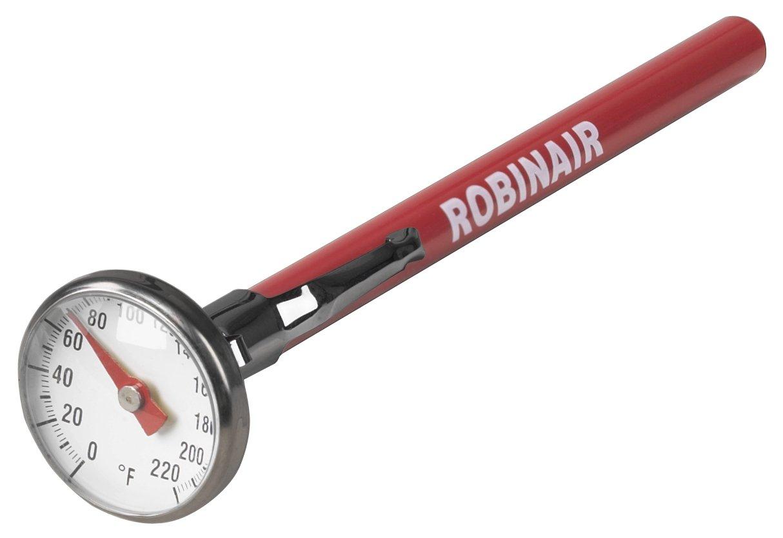Robinair 10597 0 to +220 Degree Fahrenheit Dial Thermometer